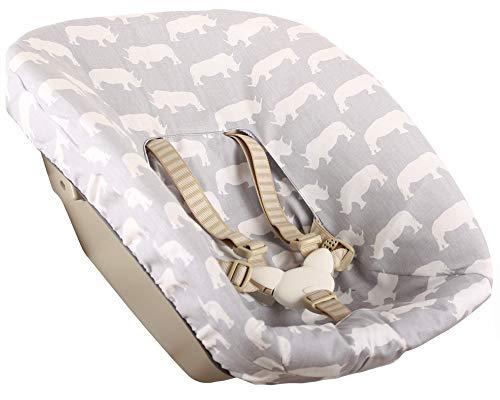 Bezug Stokke Tripp Trapp Newborn Set Grau Nashorn Öko-Tex 100 Baumwolle Recycelbar Schweißabsorbierend und Weich für Ihr Baby