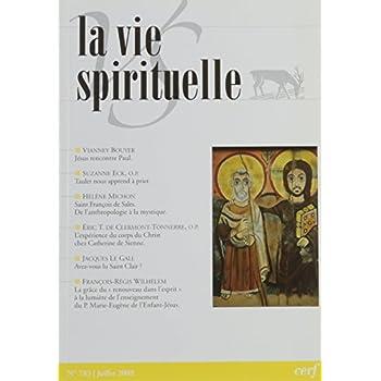 La vie Spirituelle numéro 783