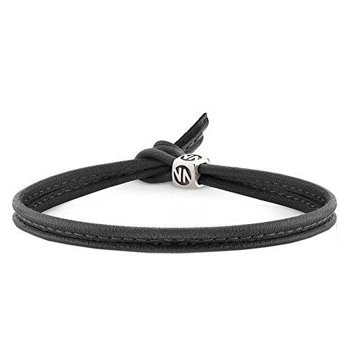 Nomination Unisex-Armband Cubiamo kurz 925 Silber Leder 26 cm-160000001