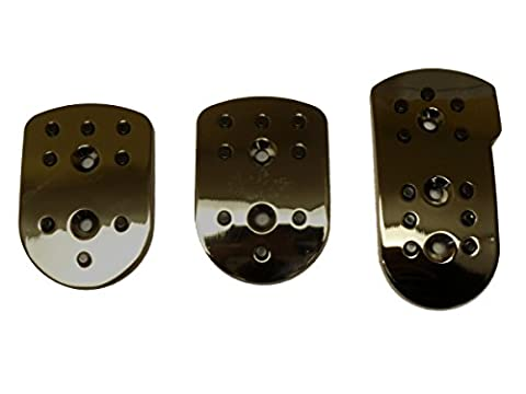 XtremeAuto® Alloy Sports/Racing Pedals set for car. SMOKED CHROME