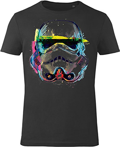 GOZOO Star Wars T-shirt Uomo Imperial Stormtrooper NEON Sketch Art 100% Cotone, Stampa di Alta Qualitá XL