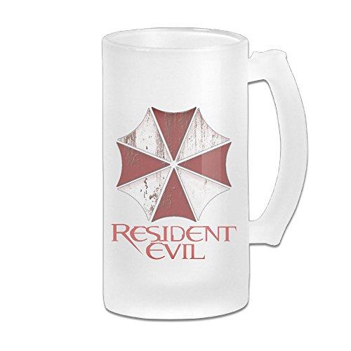 CEDAEI Frosted white beer mug, Resident Evil