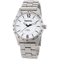 Superdry Women's 40mm Steel Bracelet & Case Quartz White Dial Analog Watch SYL124WM