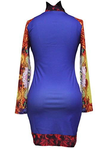 Dissa® FOB21903 femme moulante Robe de soirée Multicolore