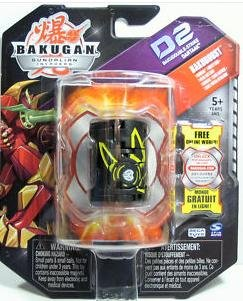 Bakugan Gundalian Invaders BakuBoost - D2 BakuDouble-Strike - Darkus DARTAAK (Black)