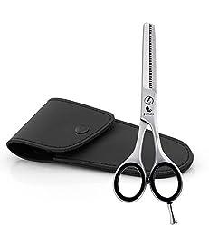 Effilierschere Pamara Premium | Extra scharfe Modellierschere inkl. Etui - zum Verdünnen und in Form bringen | Perfekter Haarschnitt für jedes Haar