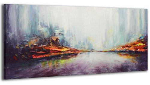 100% HANDGEMALT + Zertifikat | 115x50 cm | YS-Art Acryl Gemälde