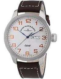 Zeno Watch Basel Pilot Oversized 8554DD-f2 - Reloj de caballero automático, correa de piel color marrón