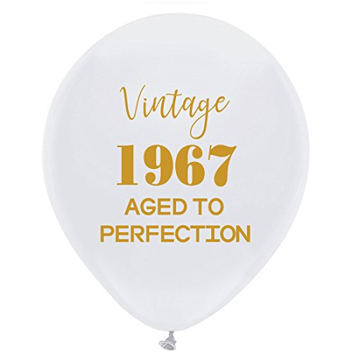 Luftballons - 30,5 cm (16) Damen und Herren Gold 51th Geburtstag Party Dekorationen oder Supplies ()