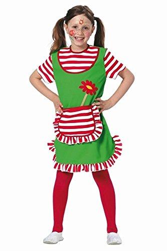 freche goere kostuem KARNEVALS-GIGANT Freche Göre Kostüm rot-weiß-grün für Mädchen | Größe 140 | 1-teiliges Giftzwerg Kostüm | Faschingskostüm für Kinder | Zickenkostüm für Karneval