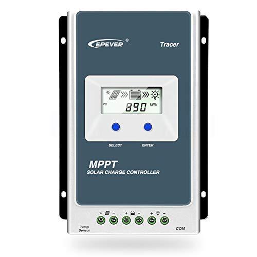 EPEVER MPPT Solarladeregler Solarmodul Solarpanel Tracer Eine Reihe 10 A/20 A/30 A/40 A mit 12 V/24 V DC automatisch identifizieren von System Spannung (40 A)