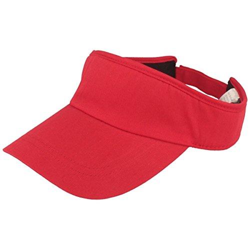 Balke Sonnenschild Visor mit Klettverschluss für Damen und Herren - rot
