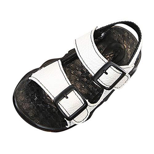 Sandalen für Kinder/Dorical Sommer Unisex Baby Mädchen Rutschfeste Weichem Kunstleder Sandalen Outdoor Kinder Freizeit Offene Lauflernschuhe Schuhe Klettverschluss Trekkingsandalen(Weiß,22 EU)