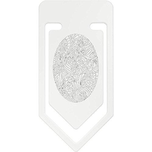 Azeeda 141mm 'Gemustertes Ei' Riesige Plastik Büroklammer (CC00029388)