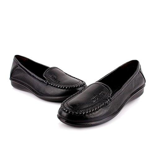 Frauen mittleren Alters Schuhe/Arbeitsschuhe/ weiche Unterseite Schuhe für älteren Frauen/Mutter mit flachen Schuhen/Schuhe für Damen C