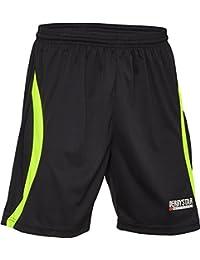Derbystar Torwarthose Aponi - Pantalones de portero negro negro, amarillo neón Talla:152