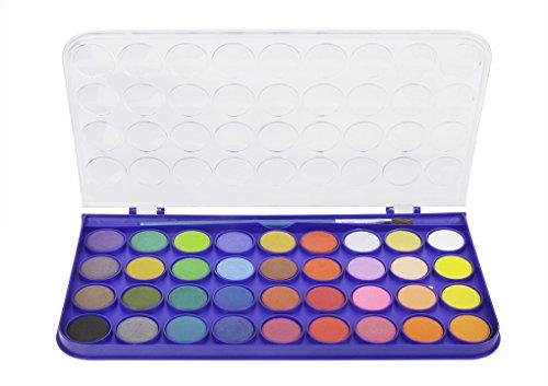 Aquarellfarben Set mit 36 Wasserfarben (ungiftig) mit Pinsel