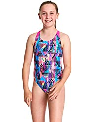 Zoggs Girls' Flyback One Piece Swimsuit