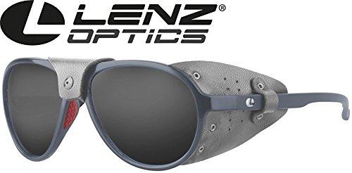 Lenz Optics Spotter Discover Sunglasses Grey - Polbrille, Angelbrille, Sonnenbrille, Polarisationsbrille zum Spinnfischen