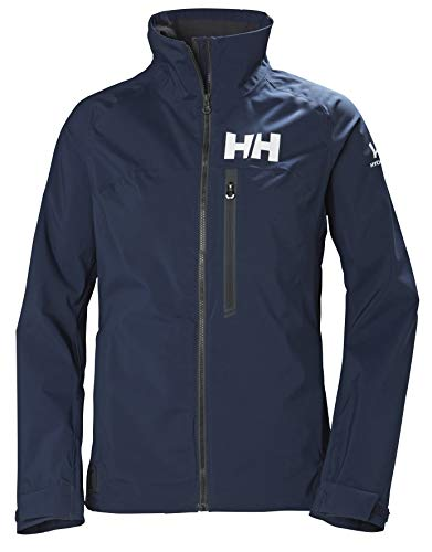 Helly Hansen HP Racing Prueba De Viento Y Respirable Cuello Forro Polar Marina Deportes Navegación Chaqueta Impermeable, Mujer, Navy, M