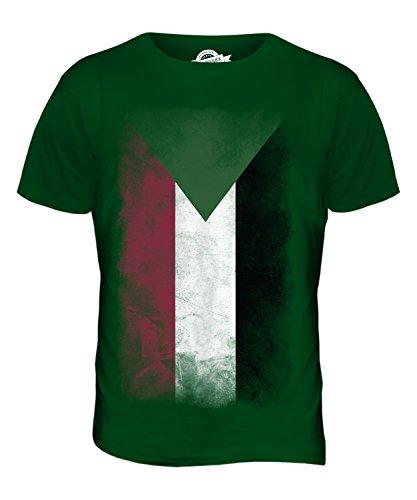CandyMix Sudan Verblichen Flagge Herren T Shirt Flaschengrün