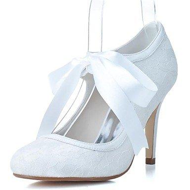 RTRY Donna Primavera Estate Autunno Inverno Lace Party Di Nozze &Amp; Sera Stiletto Heel Lacci Nero Blu Rosa Bianco Avorio US6.5-7 / EU37 / UK4.5-5 / CN37