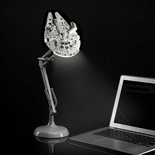 Paladone Millennium Falcon Posable Star Wars Schreibtischlampe, Geschenk für alle Altersgruppen, Grau