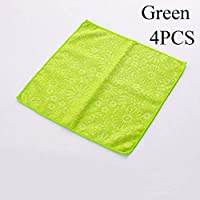 Genenic Washing Dish Cloth Bamboo Fiber Cleaning Towel Kitchen Household Scouring Pad Magic Wiping Rags, Cloths For Polishing, Washing, Waxing And Dusting. Cleaning Accessories