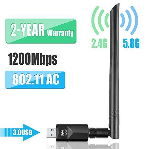 YIYOU WiFi Antena USB WiFi Adaptador1200Mbps