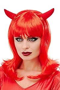 Smiffys 52070 - Peluca de diablo, color rojo