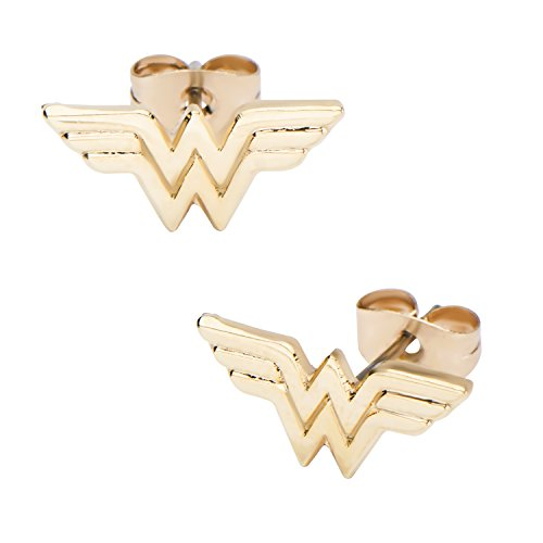 Wonder Woman Logo Ohrring goldfarben (Wonder Woman Ohrringe)
