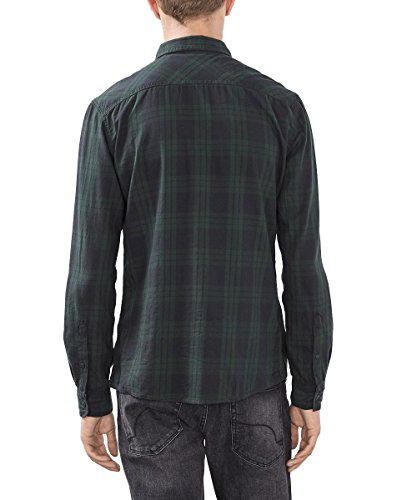edc by Esprit 096cc2f006, Chemise Casual Homme Vert (Olive 360)