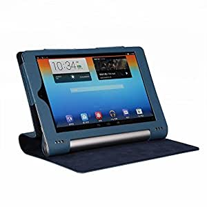 "Flip Leather case cover for Lenovo Yoga 8 B6000 8"" Tab Tablet (Dark Blue) (Magnetic Closure)"