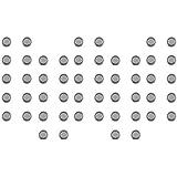 COM-FOUR® Alkaline Batterie 1,5V Knopfzelle LR43 ohne Quecksilber (AG012 - 50 Stück)