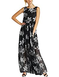 APART Fashion Glamour: Black Meets Champagner with Flowers & Lace, Vestido para Mujer