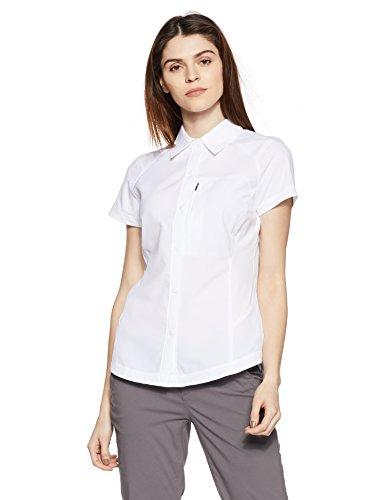 funktionsbluse damen kurzarm Columbia Kurzarm-Wanderhemd für Damen, Silver Ridge Short Sleeve Shirt, Nylon, weiß, Gr. L, AL7122
