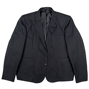 New School Uniform Girls Plain Style Blazer Jacket Black Size 26