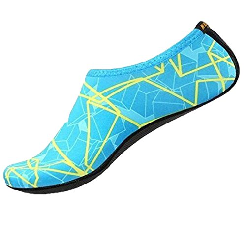 Unisexe Chaussettes de plongée, Clode® Femme été Mode décontractée Tongs Chaussons Chaussures de plage Voyage de massage Chaussons Sandales Chaussures bleu