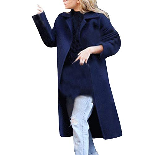 Soupliebe Damen Winter Revers Wollmantel Trenchjacke Große Tasche Mantel Outwear Jacken Mäntel Sweatjacke Winterjacke Fleecejacke Steppjacke