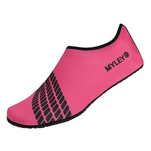 MORESAVE Per adulti a piedi nudi scarpe scarpe da ginnastica calze sportive scarpe di pelle di acqua della spiaggia di estate di nuotata Surf rosso