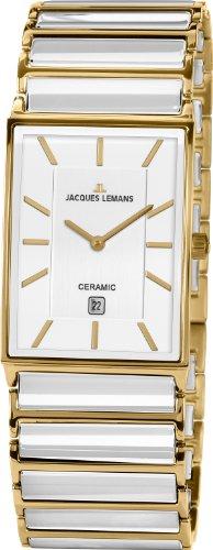 Jacques Lemans Herren Analog Quarz Uhr mit Keramik Armband 1-1593F