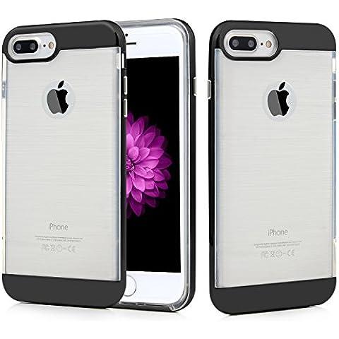 iPhone 7 Plus Funda (5.5 Pulgadas), Chnano Carcasa Antigolpes Absorción Parachoques Case Suave TPU Interior y Dura PC Exterior-Negro