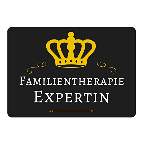 Mousepad Familientherapie Expertin schwarz