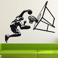 LOVE(TM)Juego de baloncesto del amor de la pared pegatinas decoraciones caseras de los deportes de baloncesto etiquetas de la pared para niños decoración de la habitación pegatinas de vinilo