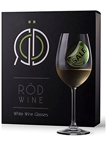 RÖD Wine Best Gift Glassware Collection Lead Free Crystal Light Red Wine and White Wine Glasses (350 ml, Set of 3)