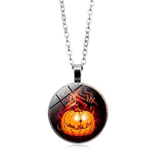 Blisfille Halloween Series Time Edelstein Halskette Mode Anhänger Halskette Festival Herren Damen ()