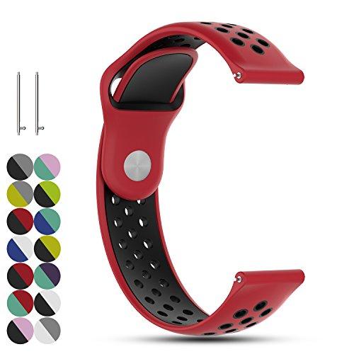 Feskio 18mm Schnellspanner Ersatz Weiches Silikon Uhrenarmband Armband für Withings Steel 36mm/Huawei Watch 1st S1/Withings Activite/Nokia Steel HR