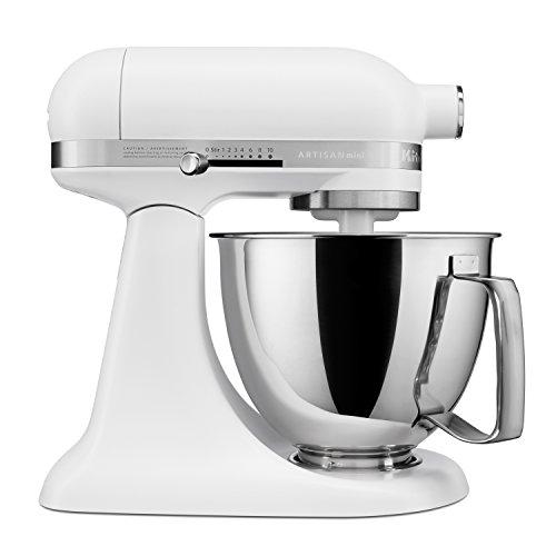 KitchenAid Artisan Mini 3.5 Quart Tilt-Head Stand Mixer, Matte White (KSM3316XFW)