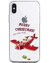 Oihxse Case Compatible con Huawei Nova 6 5G Funda Transparente Silicona Suave Carcasa Protectora Navidad Santa Deer Diseño de patrón Creativo Ultra Slim Flexible Cover