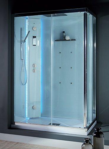Cabina Doccia Multifunzione 100x80.Dafne Italian Design Grandform Box Doccia Multifunzione White Space Vapor Idromassaggio 100x80